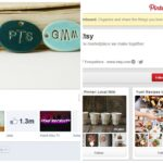 Etsy Facebook and Etsy Pinterest show consistent branding