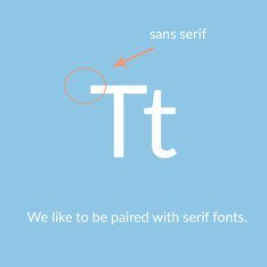 website font choice sans serif font